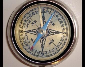 Victoriana Compass Weird Design Pillbox Pill Box Case Holder for Vitamins Pills NEW