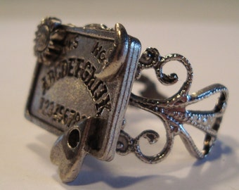 Ouija Board Ring NEW Occult Witchboard Punk Psychobilly Filagree Victorian Goth