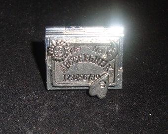 Silver Tone Rectangle Locket Pewter Ouija Board Steampunk RING New by Sweetheartsinner