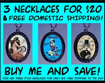 3 Sweetheartsinner Necklaces for 20 dollars & FREE Domestic Shipping PURCHASE THIS Special deal-Perfect Stocking Stuffers