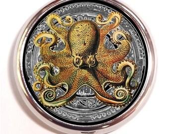 Octopus Pillbox Pill Box Case Trinket Holder