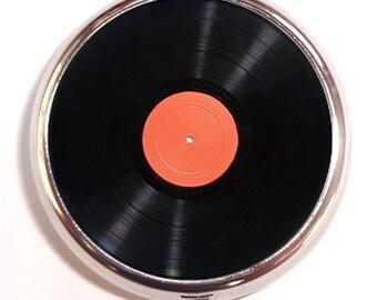 Record Album LP Pill Box Pillbox Case Trinket Box Vitamin Holder Pop Art Image Retro Kitsch Techie Gift for Vinyl Lovers Music Fans DJ