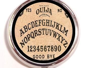Ouija Board Pill Box Pillbox Case Trinket Box Goth Spooky Occult Horror Ghosts Vitamin Holder birth control case