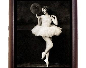 Flapper Follies Ballerina Cigarette Case Business Card Case wallet