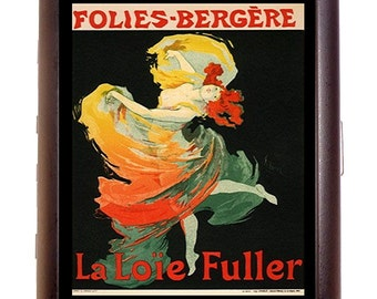 Folies Bergere Cigarette Case Art Deco Follies Poster Art Nouveau Roaring 20's Jazz Age ID Business Card Credit Card Holder Wallet