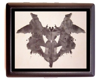 Inkblot Test Cigarette Case Rorschach Inkblot Psychology Psychiatry Psychologist  ID Business Card Credit Card Holder Wallet Rorschach