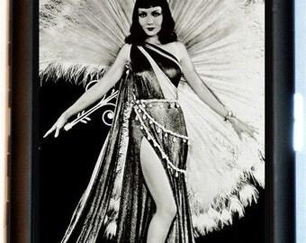 Art Deco Flapper Cigarette Case Wallet Business Card Holder Sexy Superstar Flapper Follies Dancer Large Dress
