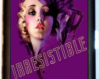 Irresistible Cigarette Case Credit Business Card Case Wallet Sexy Flapper Girl Jazz Age