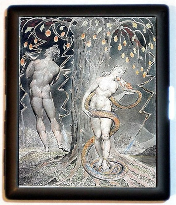 Fall of Adam and Eve William Blake Cigarette Case Artwork Romantic Poet Metaphysical Poetry ID Business Card Credit Card Holder Wallet
