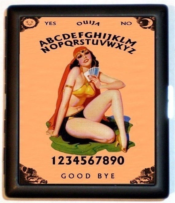 Fortune Teller Gypsy Cigarette Case Pulp Pinup Pin Up Wallet Business Card Holder Kitsch