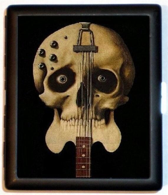Guitar Skull Cigarette Case Wallet Guitar Player Gift Musical Genius