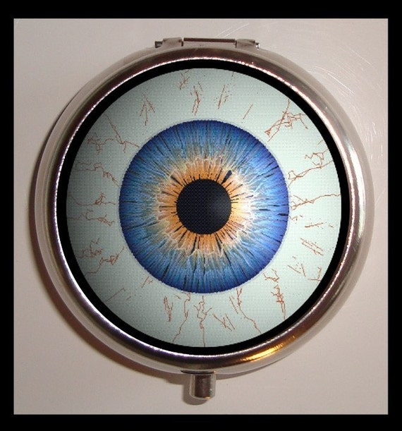 Giant Eyeball Pill box Pillbox Case Holder Weird Esoteric Lowbrow Art