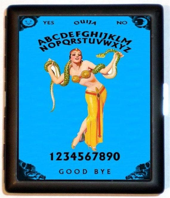 Snake Charmer Ouija Board Cigarette Case Wallet Business Card Holder Sideshow Freakshow Circus