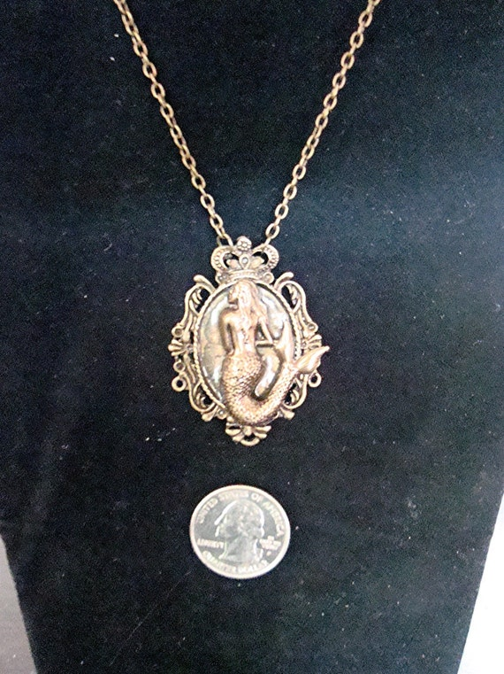 The Atlantic Mermaid Queen Victorian Steampunk Gothic Brass Necklace New by Sweetheartsinner