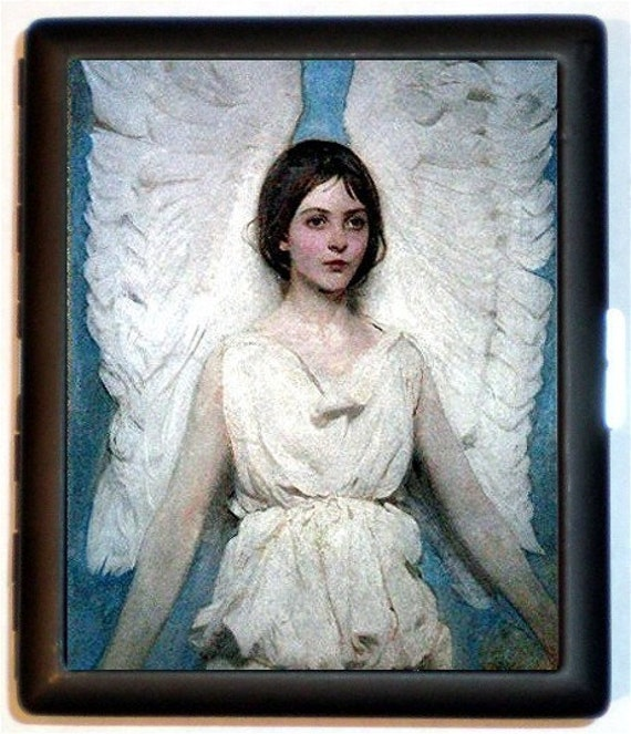 Classic Angel Painting High art serene winged angelClassic Angel Painting