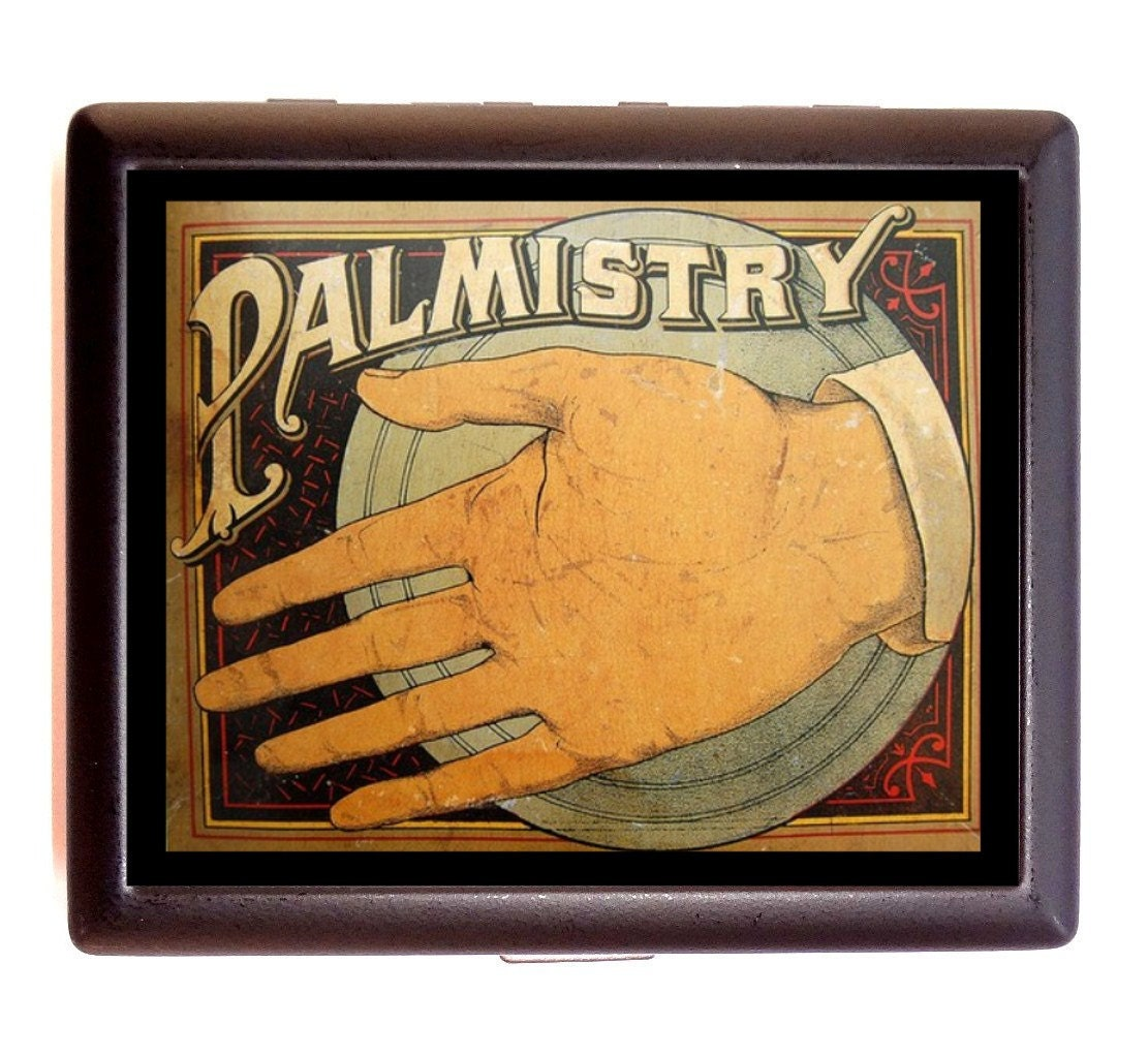 Palm Reading Palmistry Cigarette Case Business Card Case or