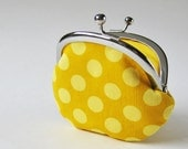 coin purse - yellow dots - oktak