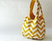 Tote bag - yellow chevron stripes