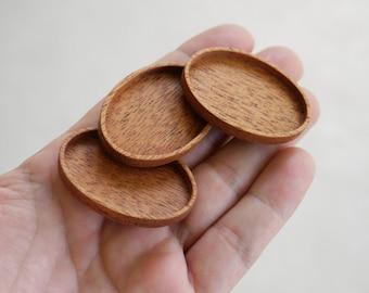 Artisan quality NO laser hardwood bezel trays - Mahogany - (D2-M) - Set of 3