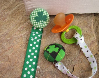 BINKIE KEEPERS One of a Kind Pacifier Clips for the Irish Babe