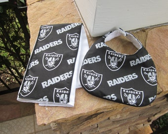 YOU CHOOSE TEAM Game Day Baby Bib and Burp Cloth Gift Set