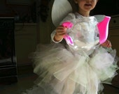 Pink and Green Powder Puff Tutu--one size fits 12 mos.-3T