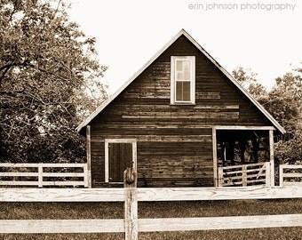 rustic home decor, barn photography, farm decor, farmhouse rural photography, burnt corn alabama, rustic wall decor Old Sepia Barn