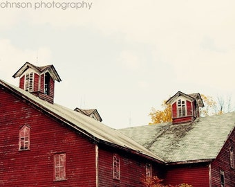 rustic red farmhouse home decor, barn photography, red wall art, country home decor, farm cottage living room art, The Barn No 2