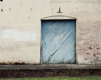 door photography, industrial decor, blue home decor, rustic old warehouse, white home decor, building photography, The Big Blue Door