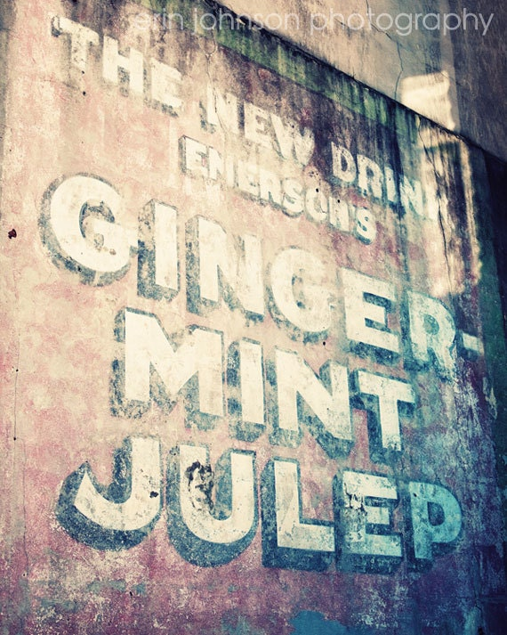 new orleans art, vintage advertisement, new orleans photography, french quarter, pink wall art, pink home decor, Ginger Mint Julep