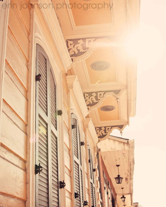 new orleans photography, yellow home decor , french quarter art, new orleans art, architecture art, Sunshine in the Quarter
