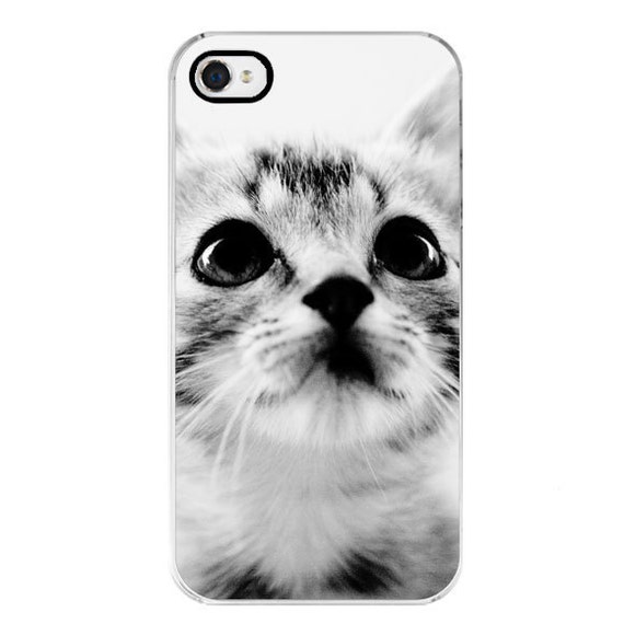 LAST ONE phone case iPhone - Cat Lover - Cat photography - Sweet Kitten - Apple iPhone 4/4s - Black & White