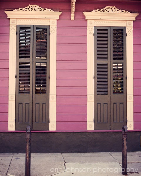 New Orleans Photograph French Quarter Cottage Shutters New
