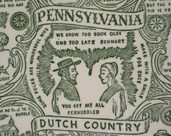 Pennsylvania Dutch Plate and Towel