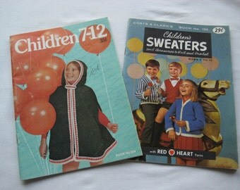 Set of 2 Vintage Knitting Booklets- Children's Fashions