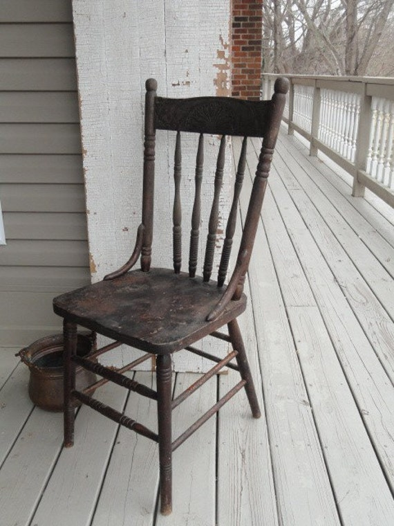 Crazed, Turned,  Wooden Chair, unchanginggrace