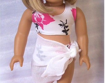 American Girl Waldorf Doll Clothes Kanani Swimsuit Bathing Suit  Outfits Clothes