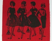 Vintage Pattern Ladies Iron-on Patch