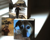 3 Custom Photo Blocks. Your Photographs printed and mounted on 3D sculputral cubes.