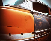 Hooptie- 5 x 5 giclee photograph (antique cars in Orange and Gray)