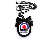 Quadrophenia Mod Scooter Pendant Necklace