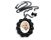 Marilyn Monroe Hollywood Photograph Pendant Necklace