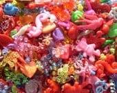 72 BULK Plastic Charms Lot Kawaii Cute Pendants