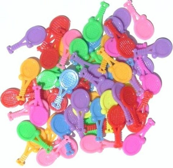 144 tennis plastic charms wholesale bulk gross by