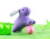 Purple Easter Bunny Rabbit  Plush Toy - Stuffed Animal - Handmade