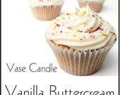 Vanilla Buttercream Vase Candle Refill - Scented, Soy, Paraffin Wax, Paper Core, Self-trimming Wick, Refillable Vase, 50 Hour Burn Time Each