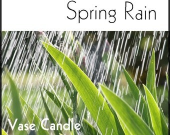 Spring Rain Vase Candle 2.8 oz Wax Melts - Highly Scented, Hand Poured Fresh, Premium Paraffin Soy Blend Wax Tarts, 25 Hour, Color Free