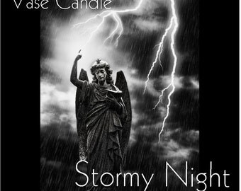 Stormy Night Vase Candle 2.8 oz Wax Melts - Highly Scented, Hand Poured Fresh, Premium Paraffin Soy Blend Wax Tarts, 25 Hour, Color Free