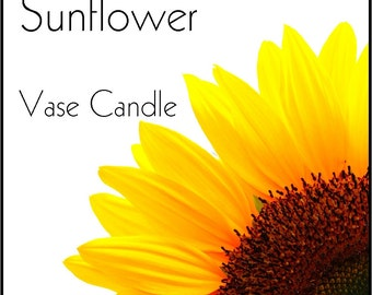 Sunflower Vase Candle 2.8 oz Wax Melts - Highly Scented, Hand Poured Fresh, Premium Paraffin Soy Blend Wax Tarts, 25 Hour, Color Free