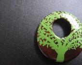 Green Tree Love pendant